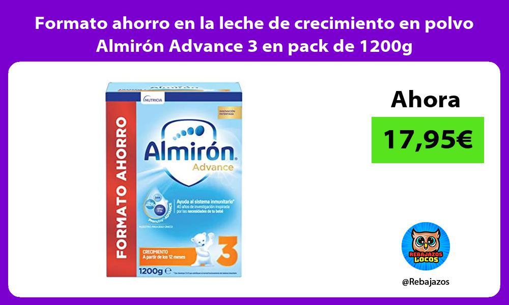Formato ahorro en la leche de crecimiento en polvo Almiron Advance 3 en pack de 1200g