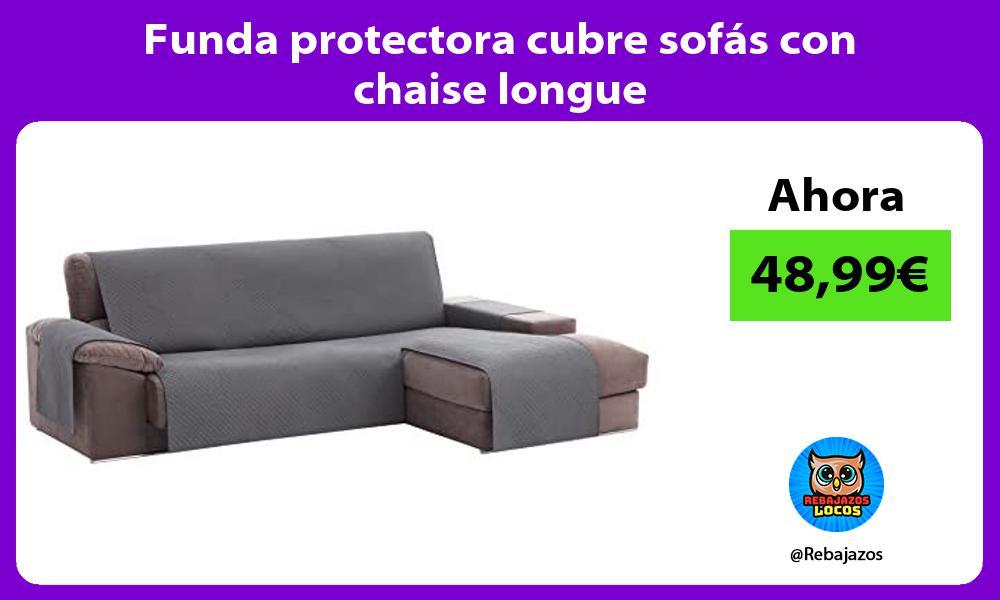Funda protectora cubre sofas con chaise longue