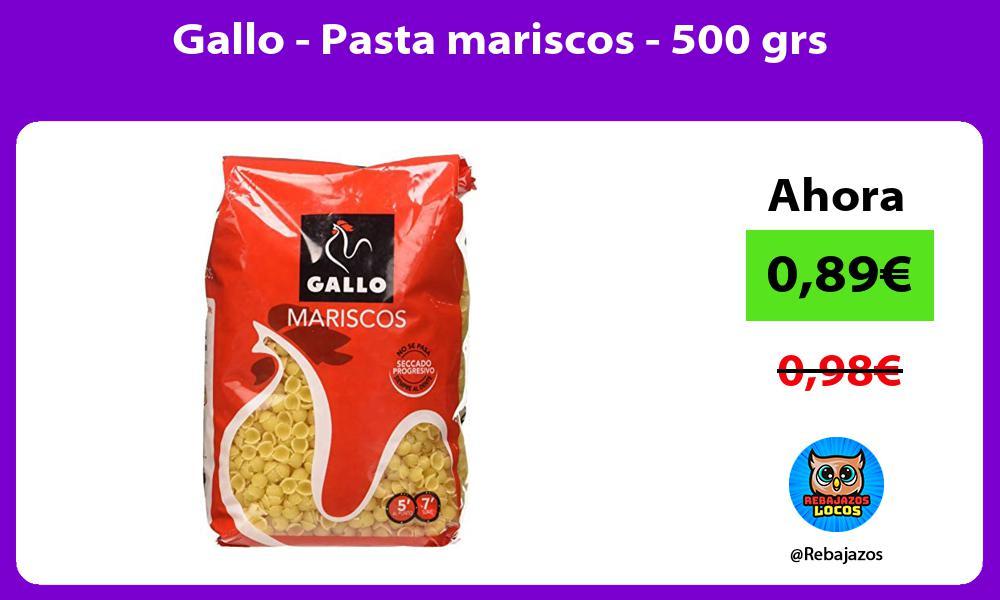 Gallo Pasta mariscos 500 grs