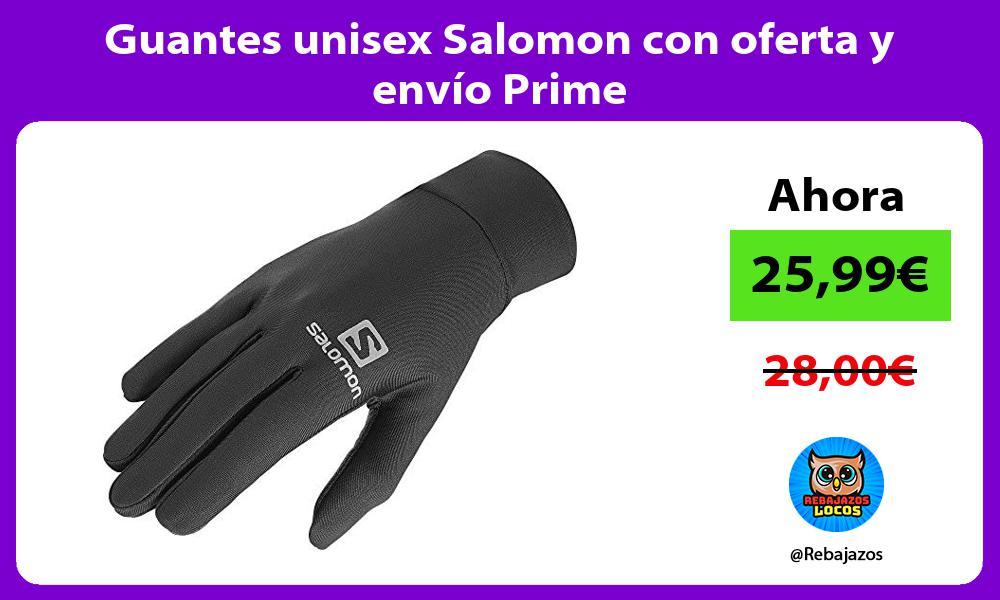Guantes unisex Salomon con oferta y envio Prime