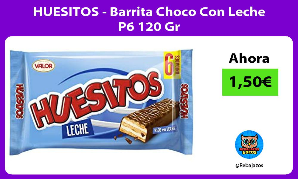 HUESITOS Barrita Choco Con Leche P6 120 Gr