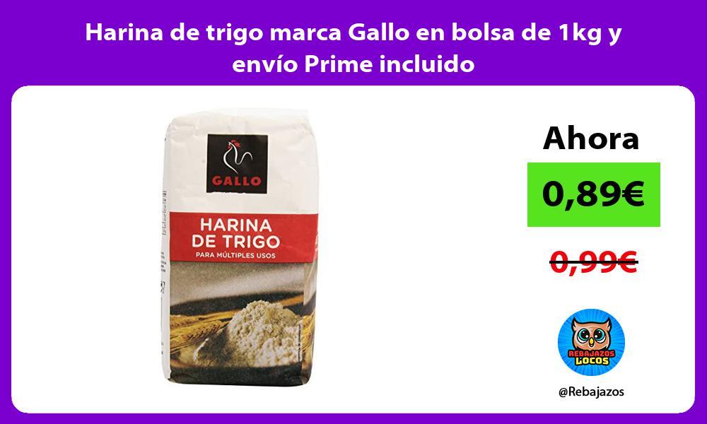 Harina de trigo marca Gallo en bolsa de 1kg y envio Prime incluido