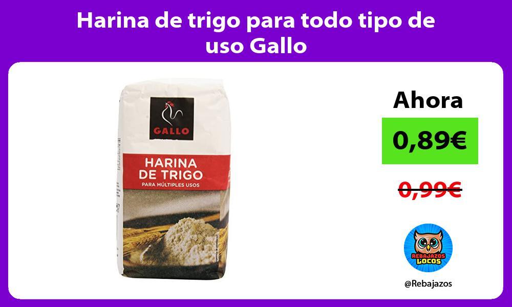 Harina de trigo para todo tipo de uso Gallo