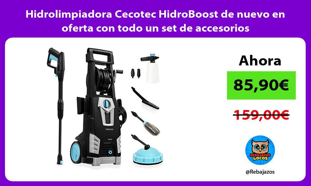 Hidrolimpiadora Cecotec HidroBoost de nuevo en oferta con todo un set de accesorios