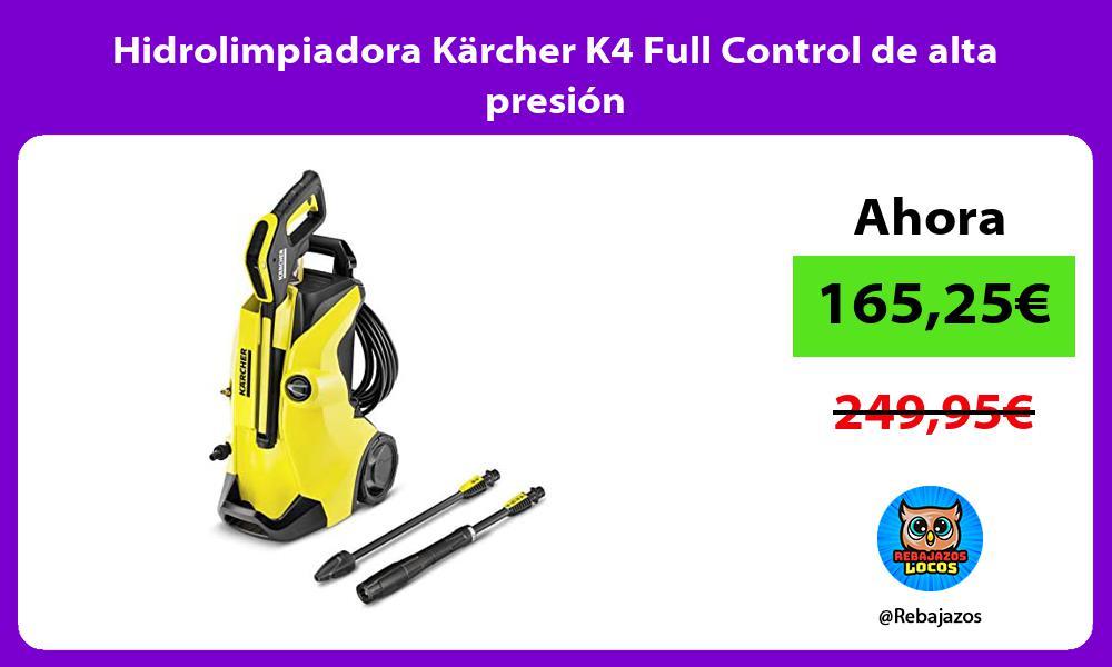 Hidrolimpiadora Karcher K4 Full Control de alta presion