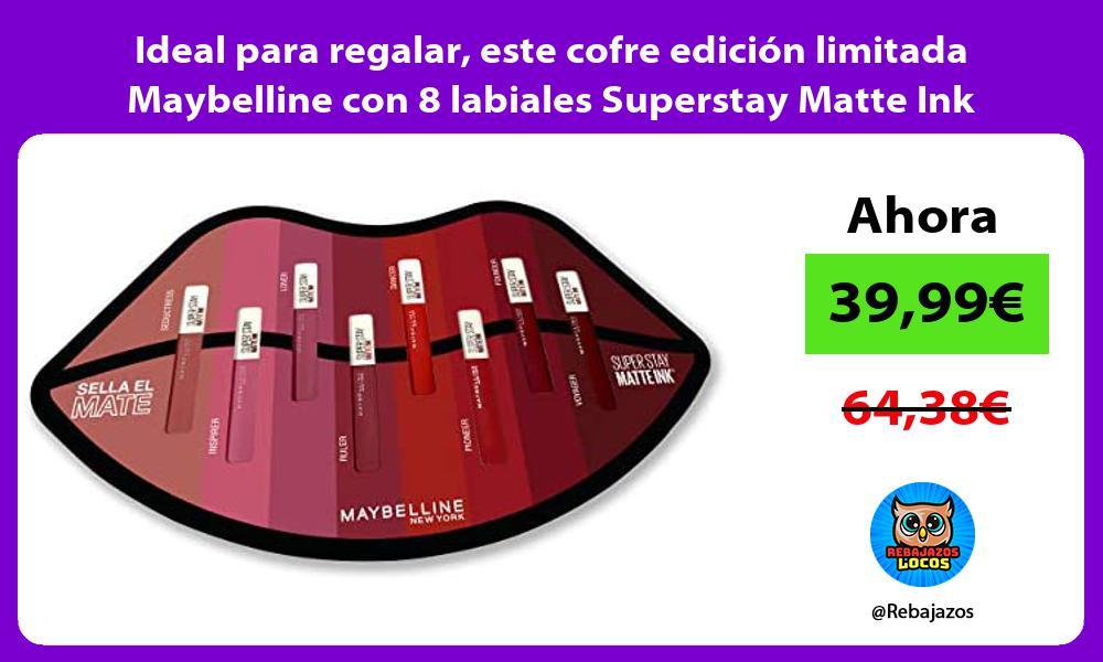 Ideal para regalar este cofre edicion limitada Maybelline con 8 labiales Superstay Matte Ink