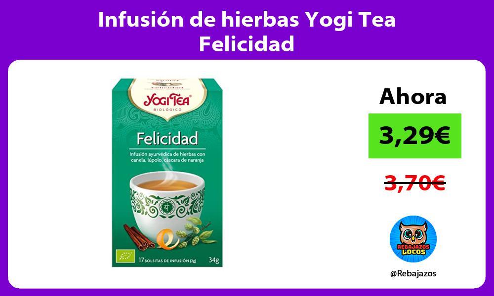 Infusion de hierbas Yogi Tea Felicidad