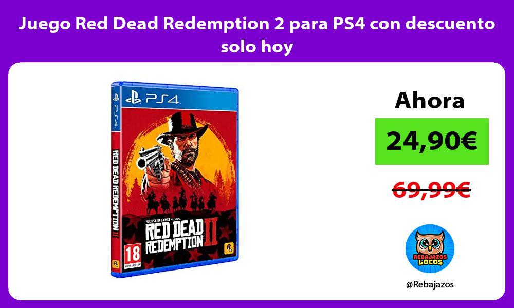 Juego Red Dead Redemption 2 para PS4 con descuento solo hoy