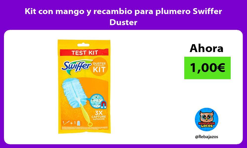 Kit con mango y recambio para plumero Swiffer Duster