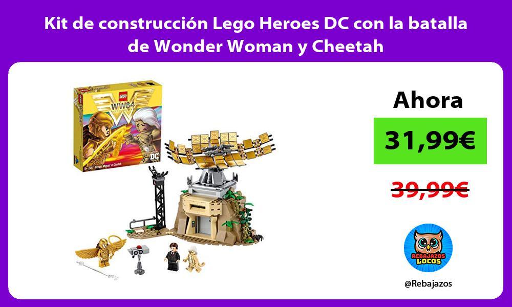Kit de construccion Lego Heroes DC con la batalla de Wonder Woman y Cheetah