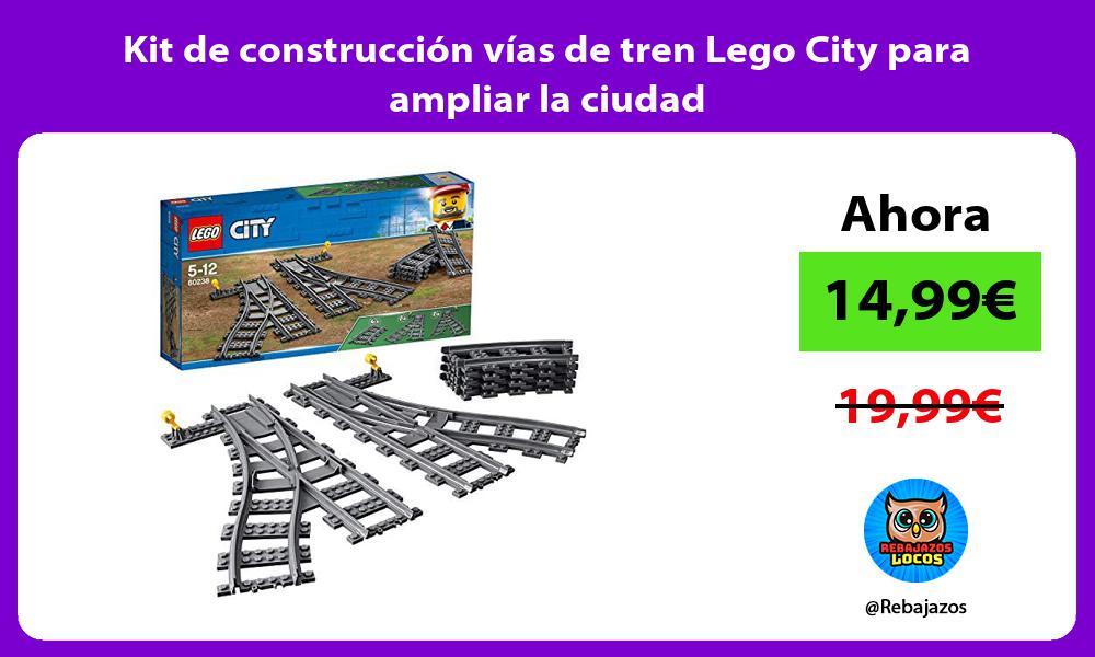 Kit de construccion vias de tren Lego City para ampliar la ciudad