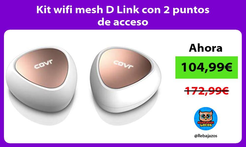 Kit wifi mesh D Link con 2 puntos de acceso