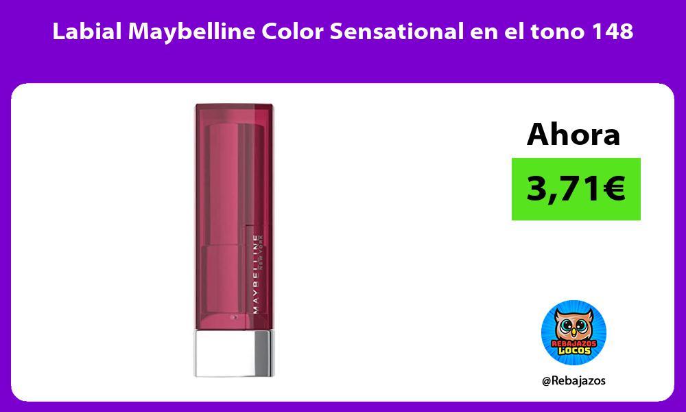 Labial Maybelline Color Sensational en el tono 148