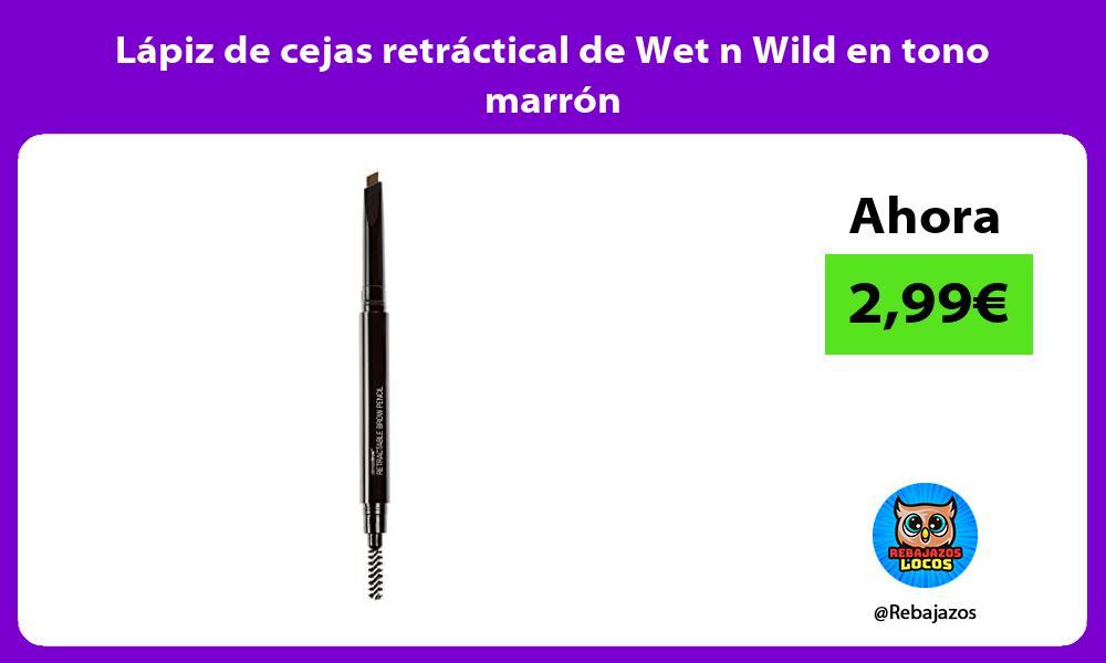 Lapiz de cejas retractical de Wet n Wild en tono marron
