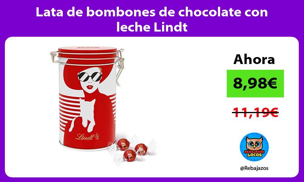 Lata de bombones de chocolate con leche Lindt