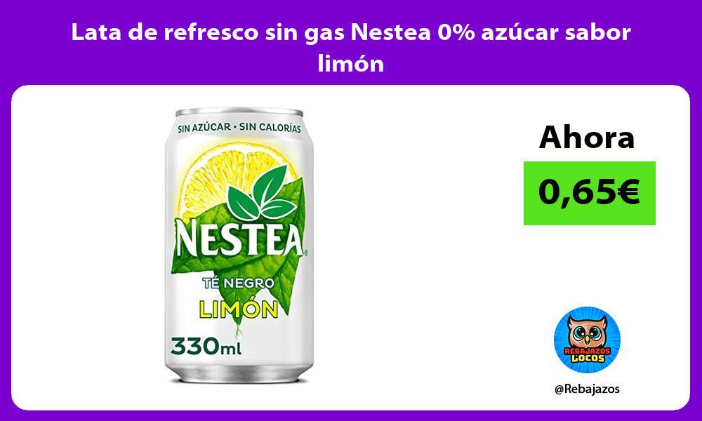 Lata de refresco sin gas Nestea 0 azucar sabor limon