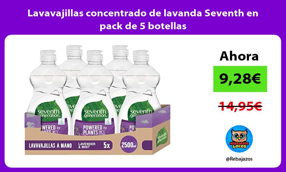 Lavavajillas concentrado de lavanda Seventh en pack de 5 botellas