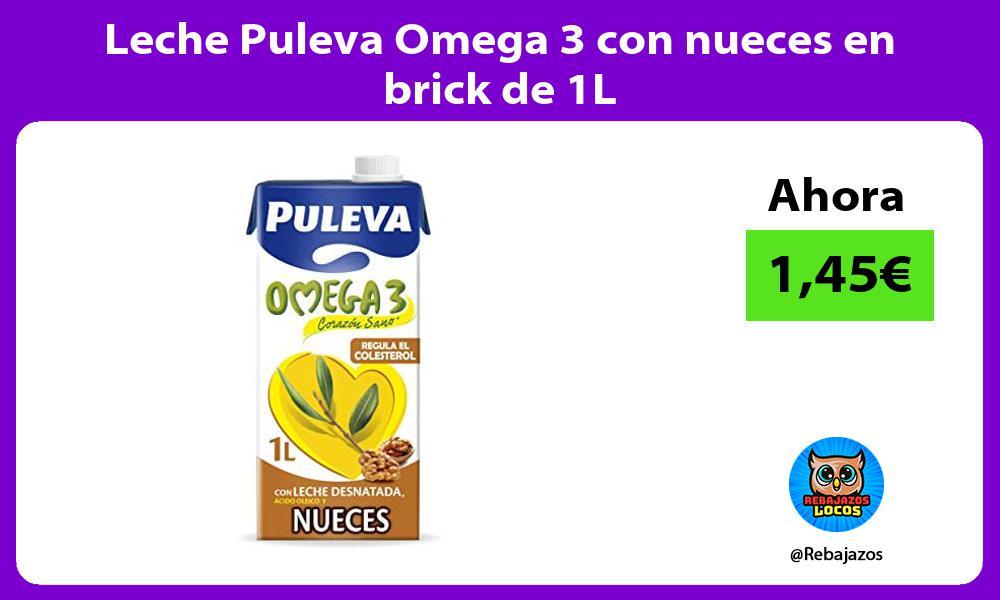 Leche Puleva Omega 3 con nueces en brick de 1L