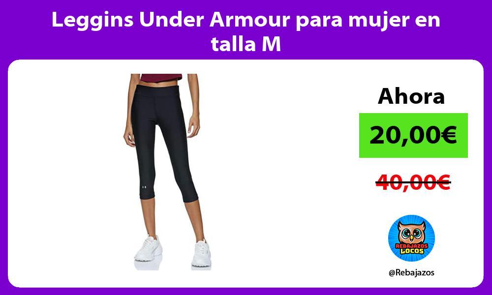 Leggins Under Armour para mujer en talla M