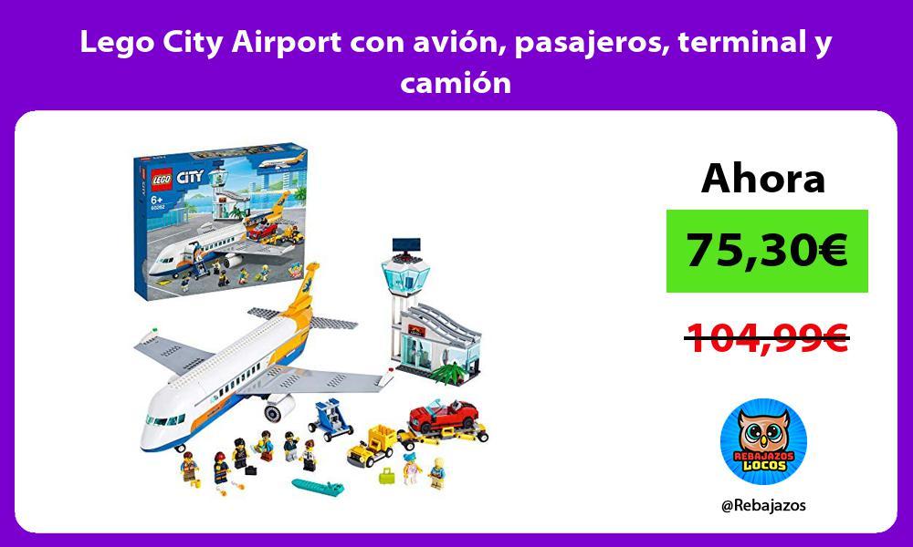 Lego City Airport con avion pasajeros terminal y camion