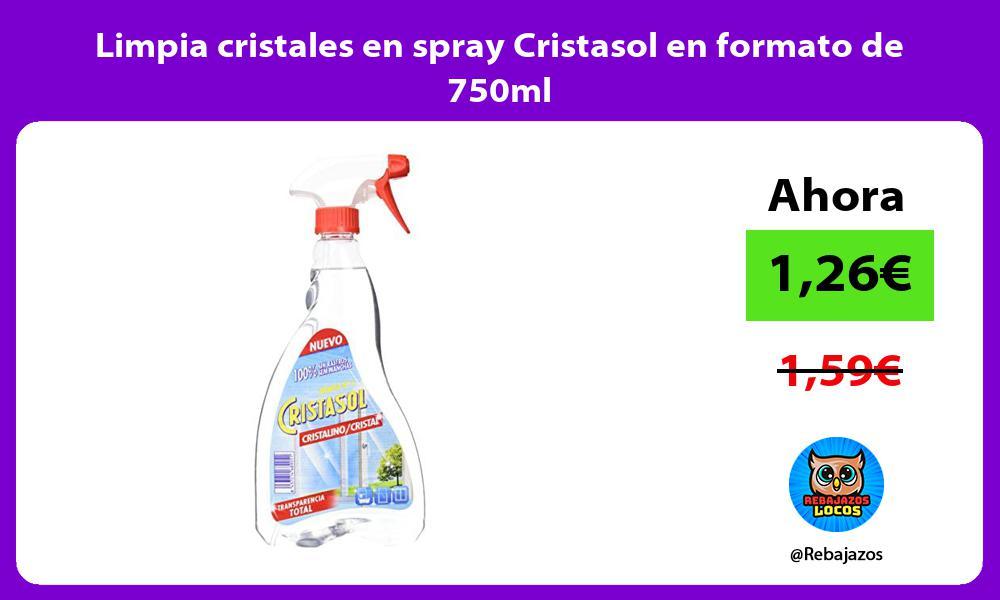 Limpia cristales en spray Cristasol en formato de 750ml