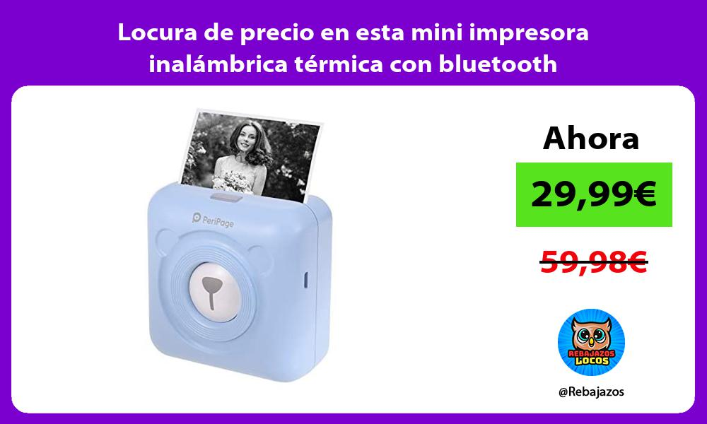 Locura de precio en esta mini impresora inalambrica termica con bluetooth