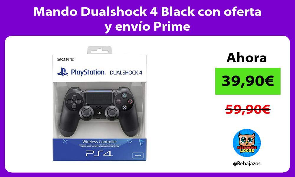 Mando Dualshock 4 Black con oferta y envio Prime