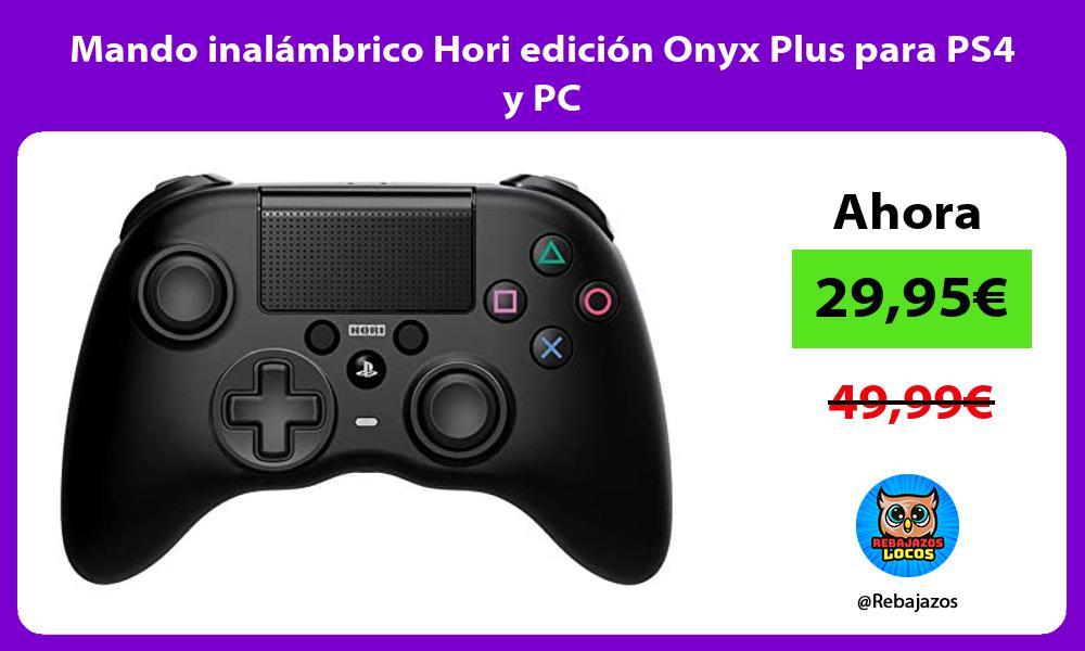 Mando inalambrico Hori edicion Onyx Plus para PS4 y PC
