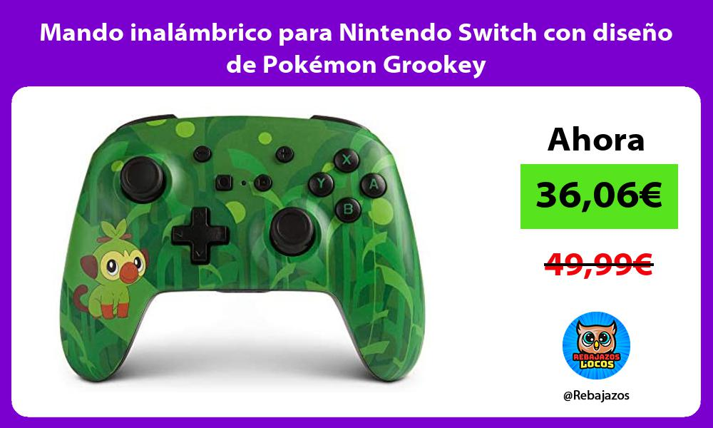 Mando inalambrico para Nintendo Switch con diseno de Pokemon Grookey