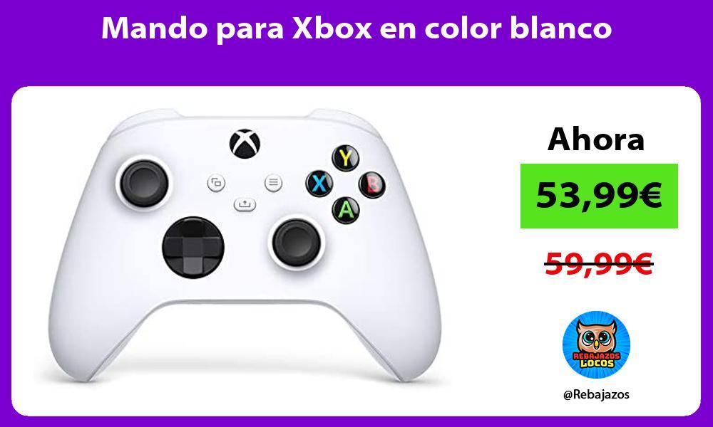 Mando para Xbox en color blanco