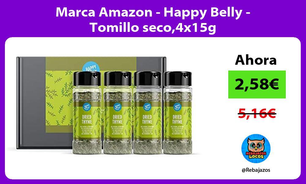 Marca Amazon Happy Belly Tomillo seco4x15g