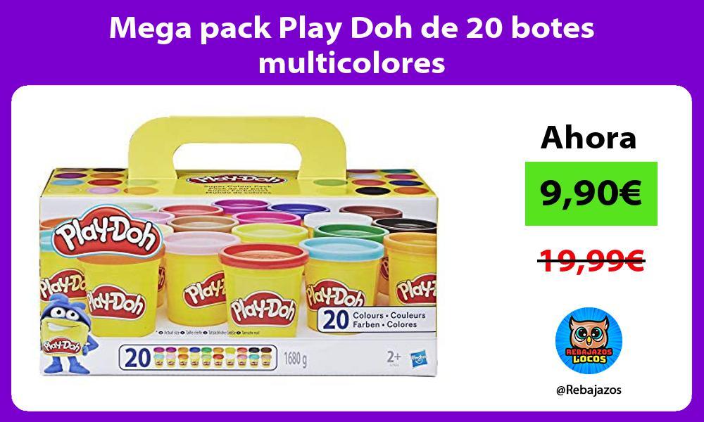 Mega pack Play Doh de 20 botes multicolores