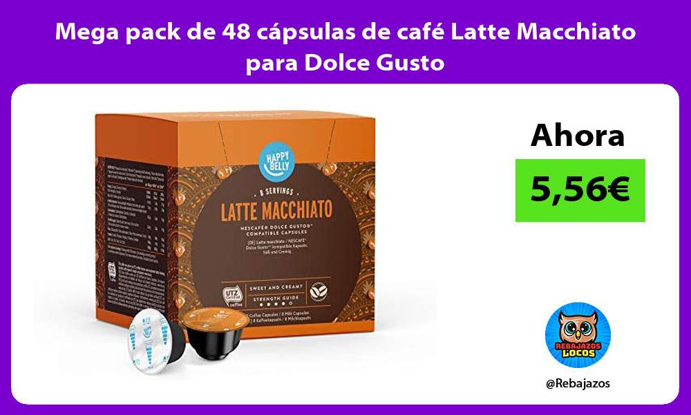 Mega pack de 48 capsulas de cafe Latte Macchiato para Dolce Gusto