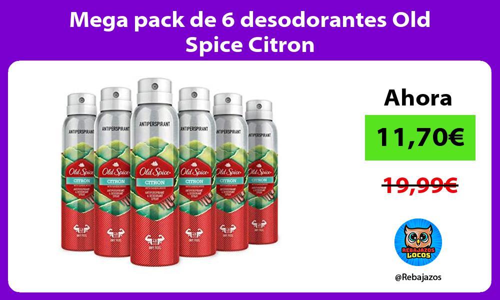 Mega pack de 6 desodorantes Old Spice Citron