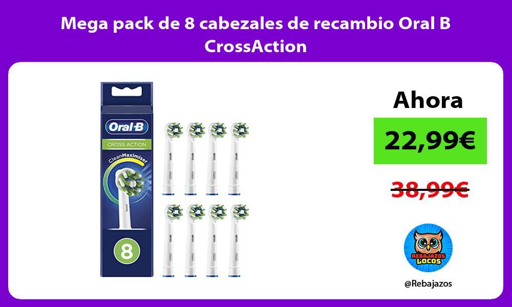 Mega pack de 8 cabezales de recambio Oral B CrossAction