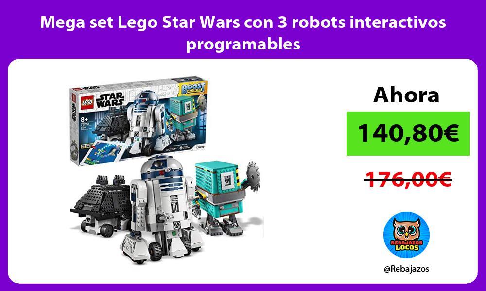 Mega set Lego Star Wars con 3 robots interactivos programables