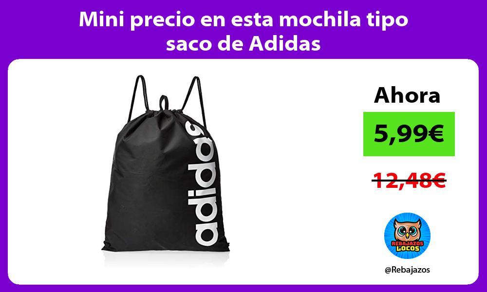 Mini precio en esta mochila tipo saco de Adidas