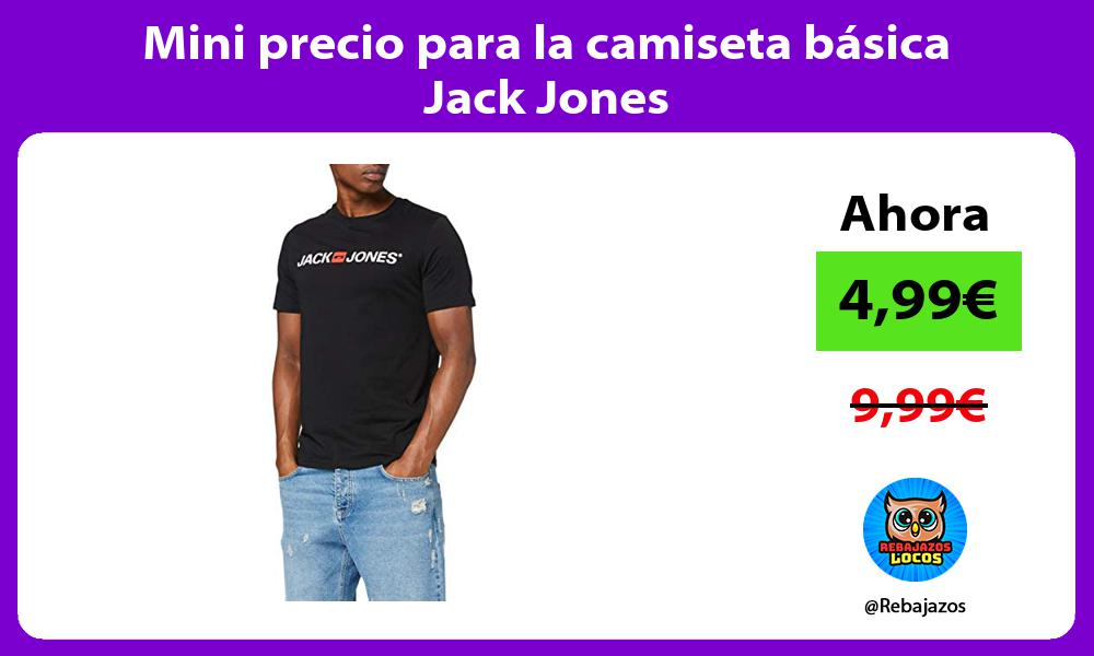 Mini precio para la camiseta basica Jack Jones