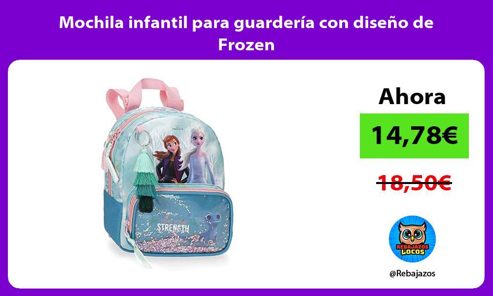Mochila infantil para guarderia con diseno de Frozen