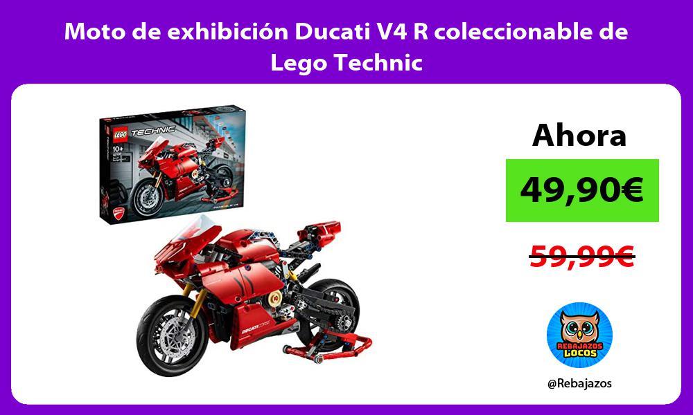 Moto de exhibicion Ducati V4 R coleccionable de Lego Technic