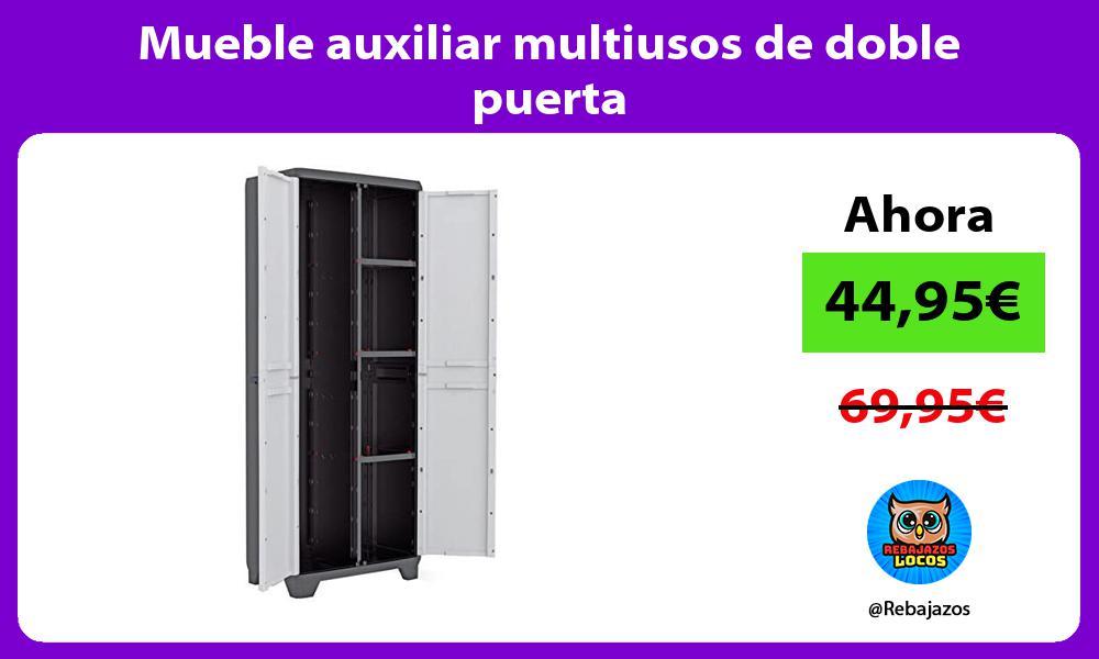 Mueble auxiliar multiusos de doble puerta