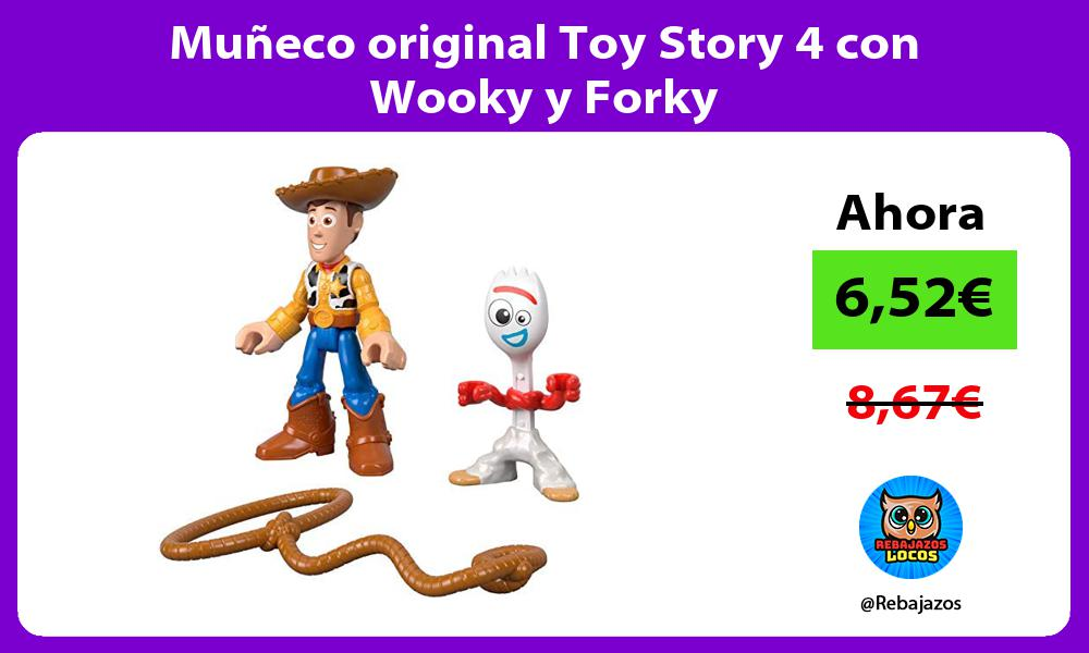 Muneco original Toy Story 4 con Wooky y Forky