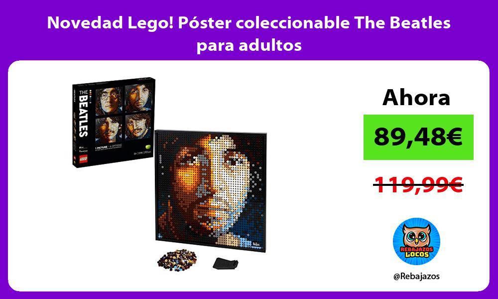 Novedad Lego Poster coleccionable The Beatles para adultos