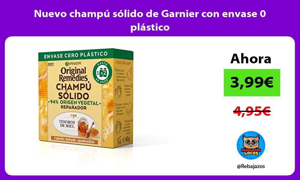 Nuevo champu solido de Garnier con envase 0 plastico