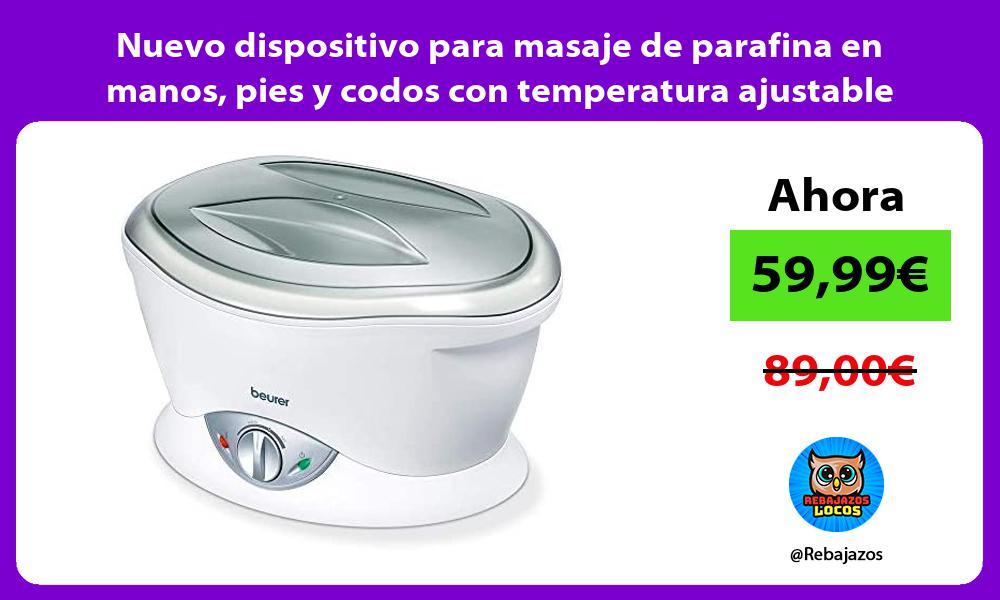 Nuevo dispositivo para masaje de parafina en manos pies y codos con temperatura ajustable