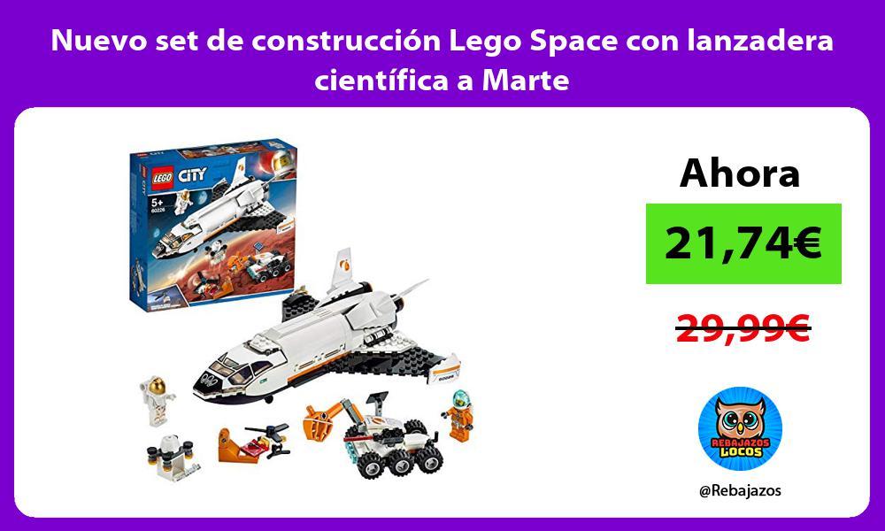 Nuevo set de construccion Lego Space con lanzadera cientifica a Marte