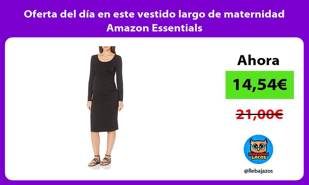 Oferta del dia en este vestido largo de maternidad Amazon Essentials