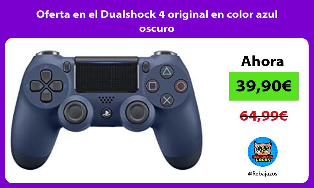 Oferta en el Dualshock 4 original en color azul oscuro