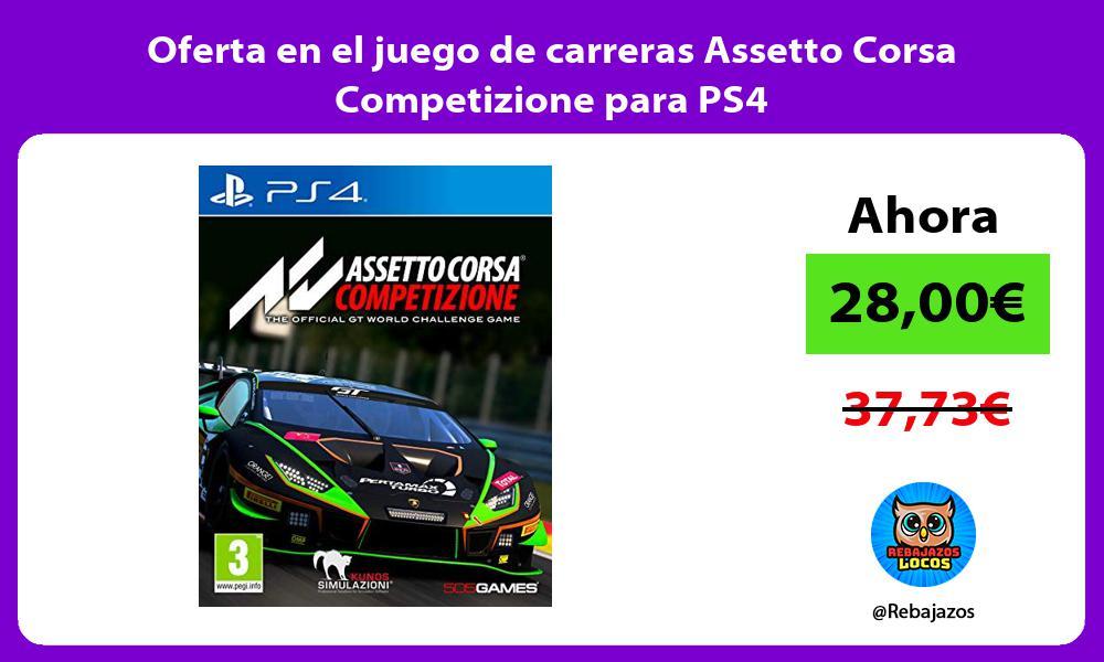 Oferta en el juego de carreras Assetto Corsa Competizione para PS4