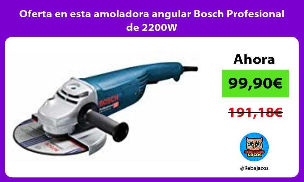 Oferta en esta amoladora angular Bosch Profesional de 2200W